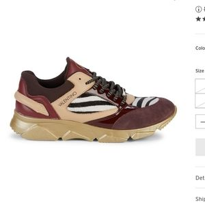 Valentino theo faux calf hair sneakers